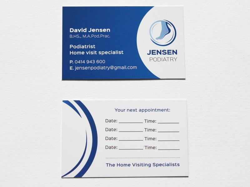Jensen Podiatry business card
